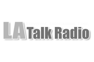 La Talk Radio White Logo